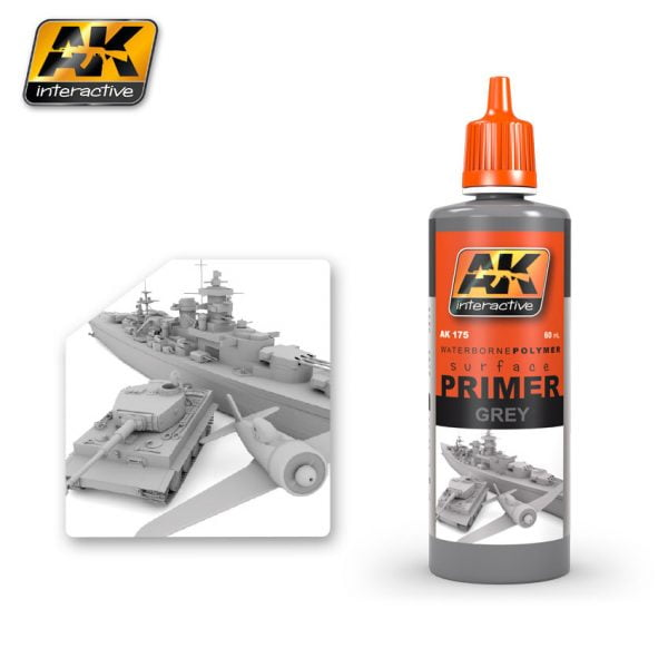 Grey Primer by AK Interactive AKI 175
