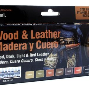 Vallejo Wood and Leather Paint Set 70182