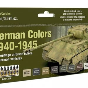 Vallejo German Colors 1940-1945 Paint Set 71206