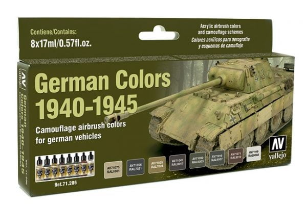 Vallejo German Colors 1940-1945 Paint Set 71206