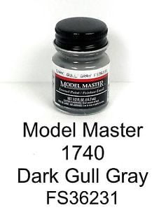 Model Master American FS Enamel Paints Dark Gull Grey 1740