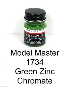 Model Master American FS Enamel Paints Green Zinc Chromate 1734