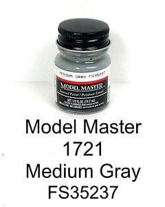 Model Master American FS Enamel Paints Medium Grey Gray 1721