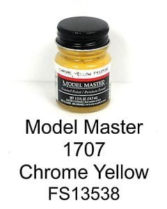 Model Master American FS Enamel Paints Chrome Yellow 1707