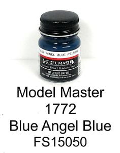 Model Master American FS Enamel Paints Blue Angel Blue 1772