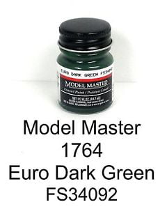 Model Master American FS Enamel Paints Euro Dark Green 1764