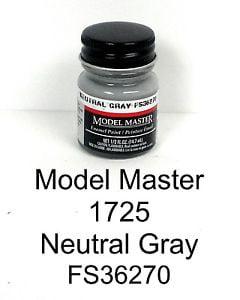 Model Master American FS Enamel Paints Neutral Grey 172502