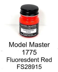 Model Master American FS Enamel Paints Fluorescent Red 1775