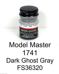 Model Master American FS Enamel Paints Dark Ghost Grey 1741