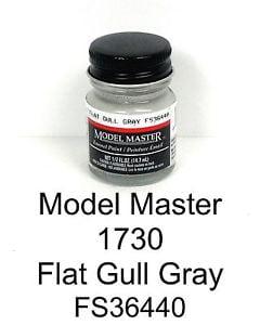 Model Master American FS Enamel Paints Gull Grey 1730