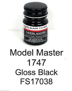 Model Master American FS Enamel Paints Gloss Black 1747