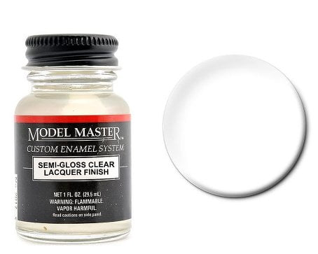 Model Master Semi-Gloss Clear Lacquer 201616 2016