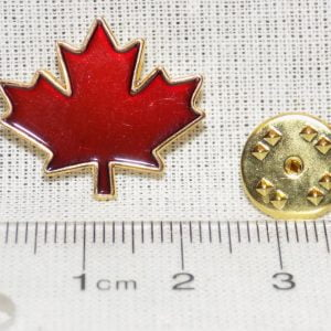 Maple Leaf Canada Flag Pin Size