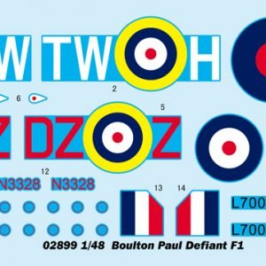 Decals F1 Boulton Paul Defiant Aircraft by Trumpeter 2899