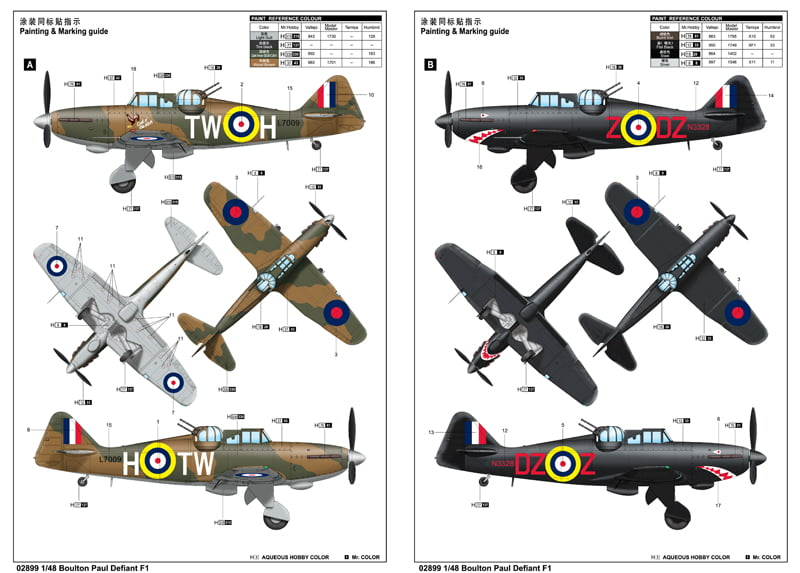 F1 Boulton Paul Defiant Aircraft By Trumpeter 2899 Clearance