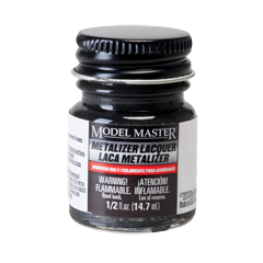 Metalizer Lacquer Paints by Model Master Gun Metal Flat Buffing 1405