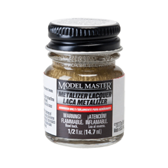 Metalizer Lacquer Paints by Model Master Brass 1417