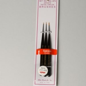 Atlas 3 Piece Taklon Detail Mini Brush Set 5-0 10-0 20-0 255-3PS