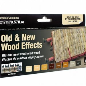 Vallejo Old and New Wood Effects Paint Set 71187
