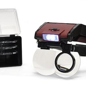 Complete Magnifier Visor with Lens and Light 9008