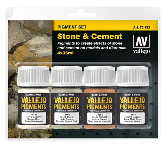 Vallejo Stone and Cement Pigment Set 73192