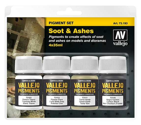 Vallejo Soot and Ashes Pigment Set 73193