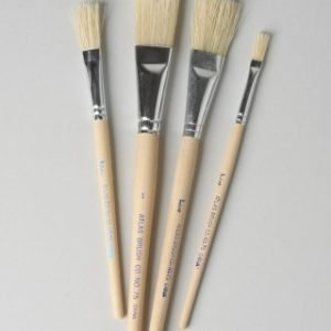 Size Atlas Flat China Bristle Marking Brush Style 75 1-2 inch