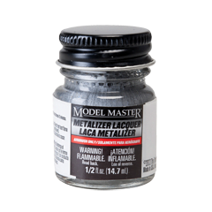 Metalizer Lacquer Paints by Model Master Steel Non-Buffing 1420