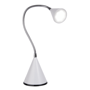 OttLite Flexible LED Cone Lamp Silver