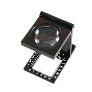 Foldable Loupe 5x Ruled Linen Tester by Ultraoptix
