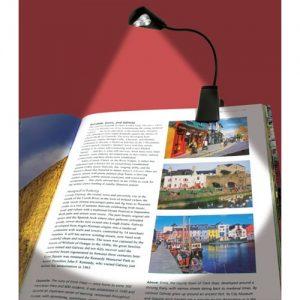 In use Ultraoptix Triple Bright Clip on LED Book Light