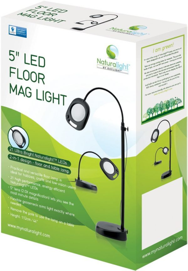 Box Naturalight 5 inch LED Floor or Table Mag Light by Daylight Company