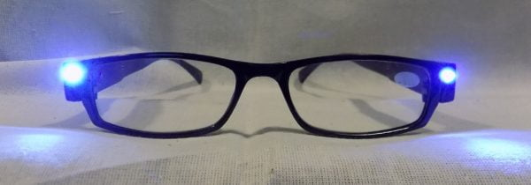LED on LED Reading Glasses Eyeglasses Black Strength 1.00 Black