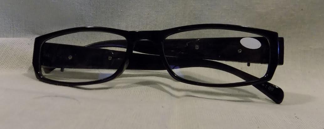 d619fac7a47 LED Reading Glasses Eyeglasses Black Strength 1.00 Black