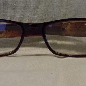 LED Reading Glasses Eyeglasses Black Strength 1.00 Brown