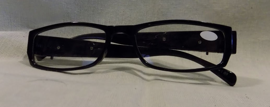 led reading glasses eyeglasses black strength 2 00 black