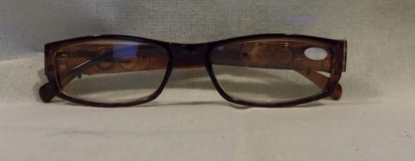 LED Reading Glasses Eyeglasses Black Strength 2.50 Brown