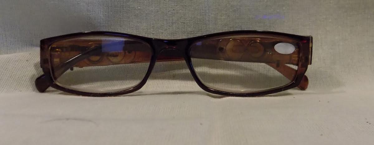 led reading glasses eyeglasses black strength 2 50 brown
