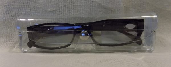 Case LED Reading Glasses Eyeglasses Black Strength 2.50 Brown