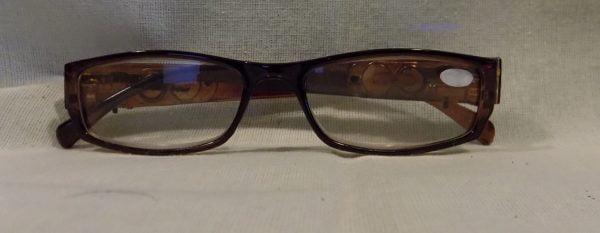 LED Reading Glasses Eyeglasses Black Strength 3.00 Brown