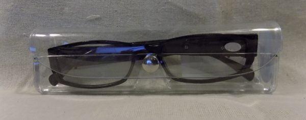 Case LED Reading Glasses Eyeglasses Black Strength 3.00 Brown