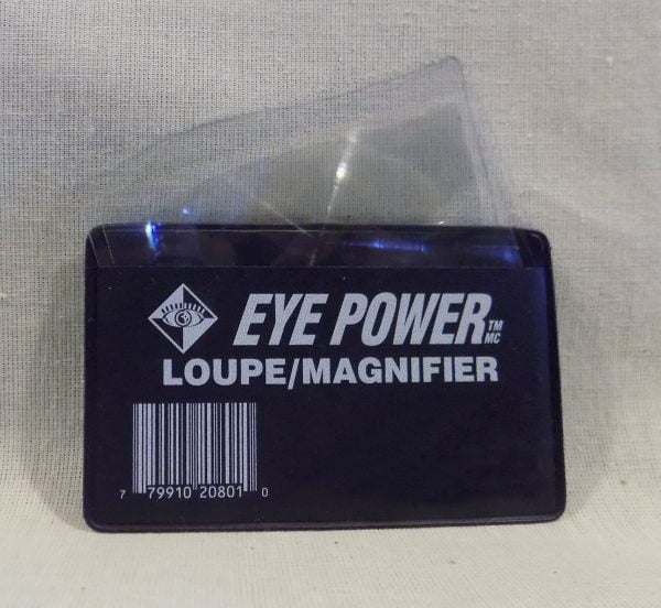 Wallet size Fresnel Lens Loupe Magnifier with case by Eye Power