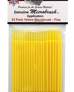Microbrushes Fine Yellow 25 Pack by Alpha Abrasives ALB 1301