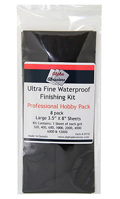 Alpha Abrasives Ultra Fine Waterproof Finishing Kit ALB 0110
