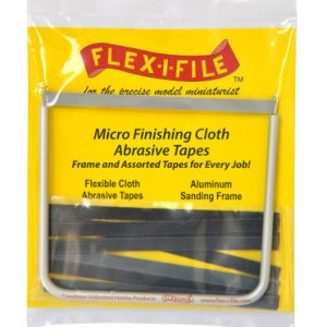 Flex-i-File CA Micro Finishing Cloth Abrasive Tapes and Frame FLX 15129