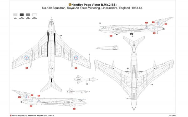 Layout A Airfix Handley Page Victor B-2 A12008