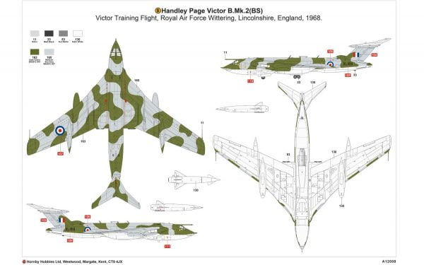 Layout B Airfix Handley Page Victor B-2 A12008