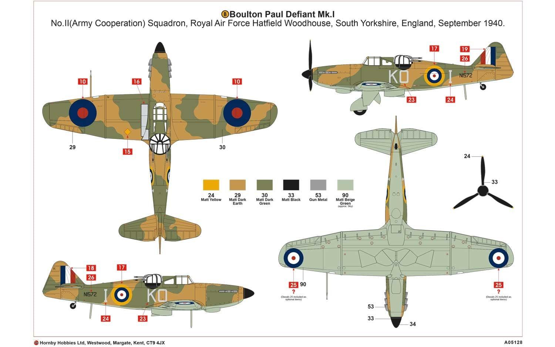Airfix Boulton Paul Defiant Mk1 1 48 A05128