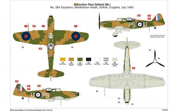 Layout 1 Airfix Boulton Paul Defiant Mk.1 1-72 A02069