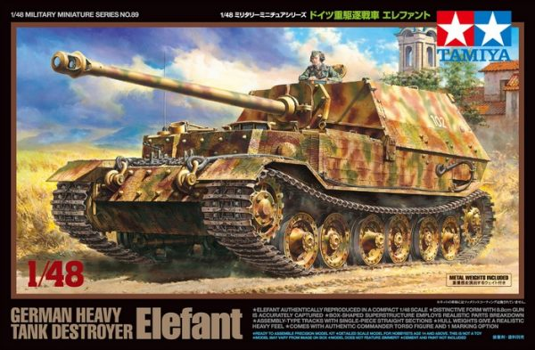 Box Tamiya German Tank Destroyer Elefant 1-48 Scale 32589